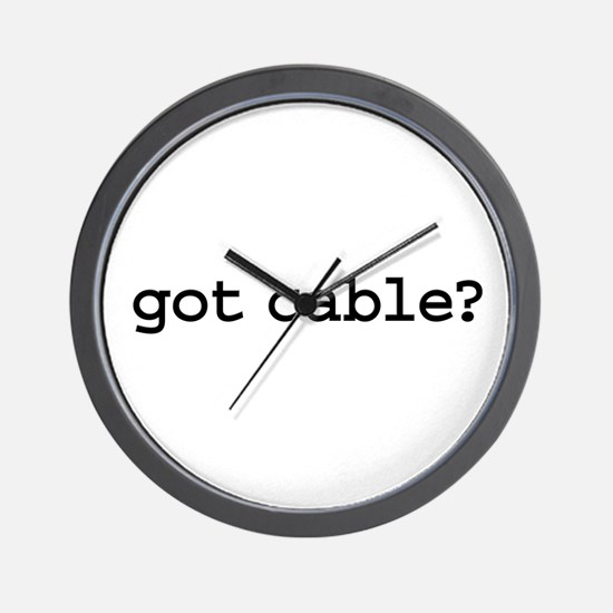 got cable? Wall Clock