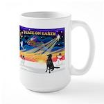 XmasSunrise/Flat Coat Retriev Large Mug