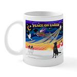 XmasSunrise/Flat Coat Retriev Mug