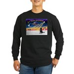 XmasSunrise/Flat Coat Retriev Long Sleeve Dark T-S