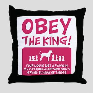 Catahoula Leopard Dog Throw Pillow