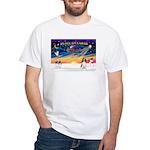 XmasSunrise/Spring Span W2 White T-Shirt