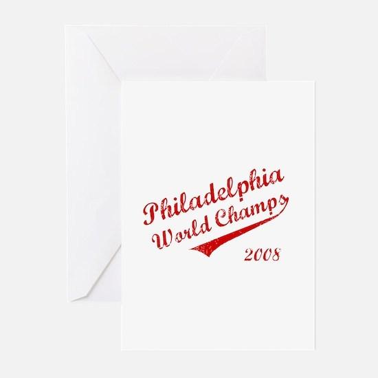 Philadelphia World Champs 2008 Greeting Cards (Pk