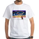 XmasSunrise/Dobbie (red) White T-Shirt