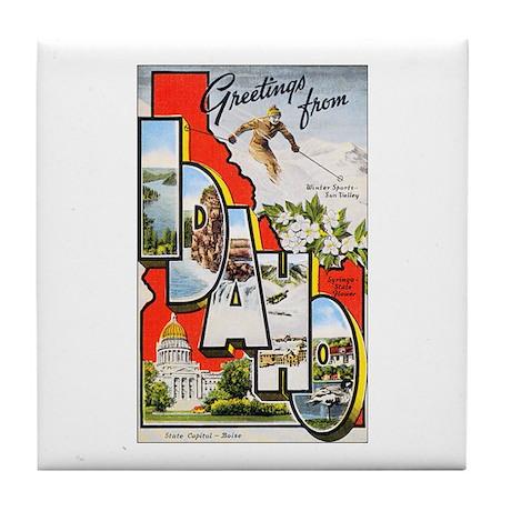 Idaho Greetings Tile Coaster