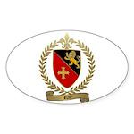 ROY Family Crest Oval Sticker