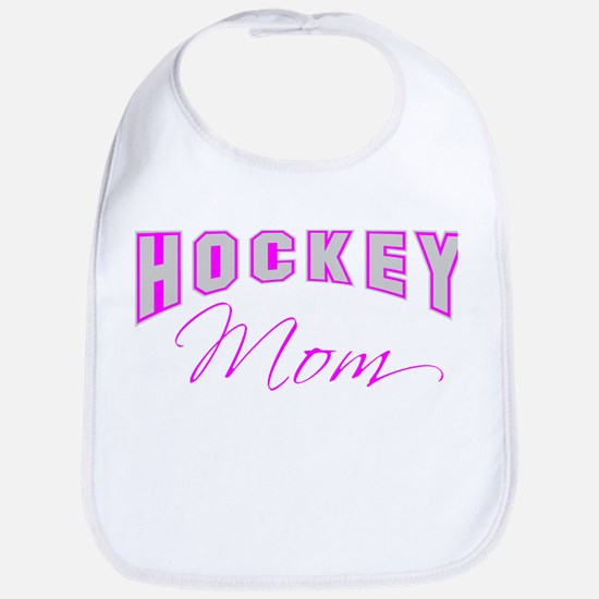 Hockey Mom (pink) Bib