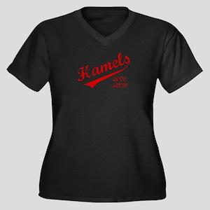 Hamels 2008 MVP Women's Plus Size V-Neck Dark T-Sh