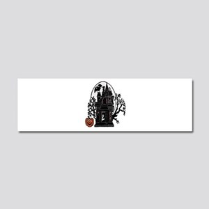 Haunted House Car Magnet 10 x 3