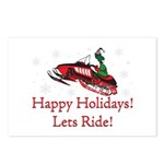Happy Holidays Lets Ride Postcards (Package of 8)