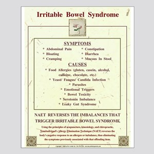 Small Irritable Bowel Syndrome Poster for NAET