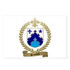 SAINDON Family Crest Postcards (Package of 8)