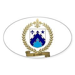 SAINDON Family Crest Oval Decal