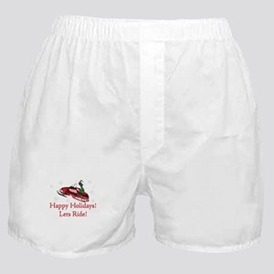 Happy Holidays Lets Ride Boxer Shorts