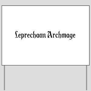Leprechaun Archmage Yard Sign