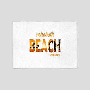 Delaware - Rehoboth Beach 5'x7'Area Rug