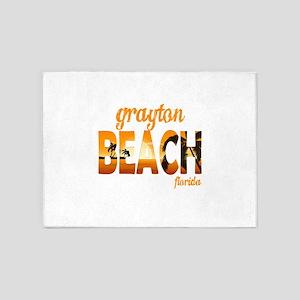 Florida - Grayton Beach 5'x7'Area Rug