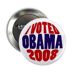 "I Voted Obama 2008 2.25"" Button"