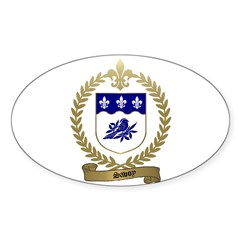SAVOY Family Crest Oval Decal