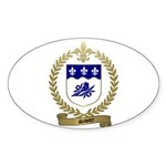 SAVOY Family Crest Oval Sticker