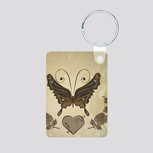Beautiful elegant butterflies with heart Keychains