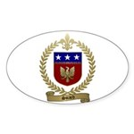 SICARD Family Crest Oval Sticker