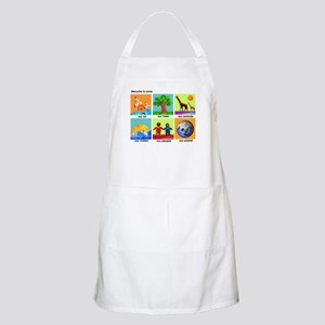Recycle ReUse colorful design Apron