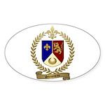 SIMONEAU Family Crest Oval Sticker