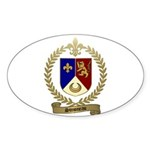 SIMONEAU Family Crest Oval Sticker