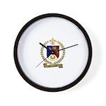 SIMONEAU Family Crest Wall Clock