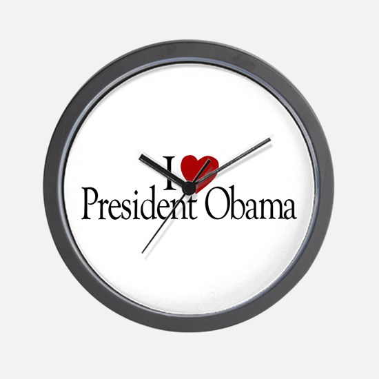 I Love President Obama Wall Clock