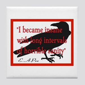 POE QUOTE 2 Tile Coaster