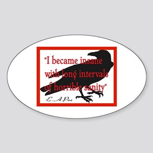 POE QUOTE 2 Oval Sticker
