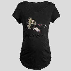 MAN DOWN Maternity Dark T-Shirt