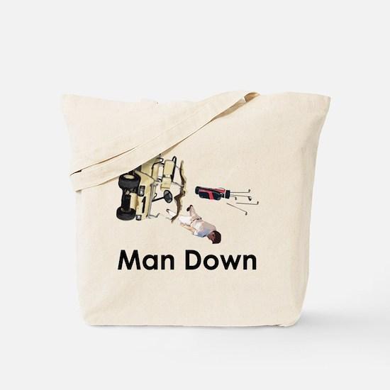 MAN DOWN Tote Bag