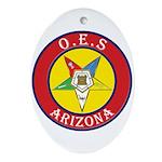 Arizona Order of the Eastern Star Oval Ornament