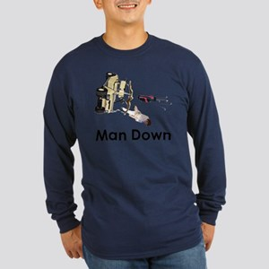 MAN DOWN Long Sleeve Dark T-Shirt