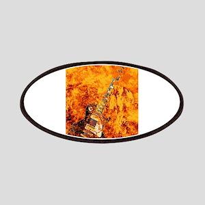 Burning Black Rock Guitar Patch