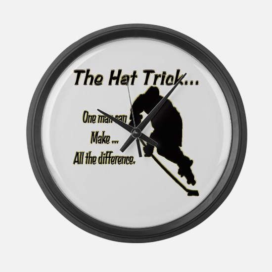 The Hat Trick Large Wall Clock