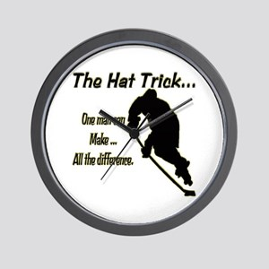 The Hat Trick Wall Clock