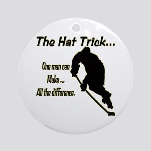 The Hat Trick Ornament (Round)