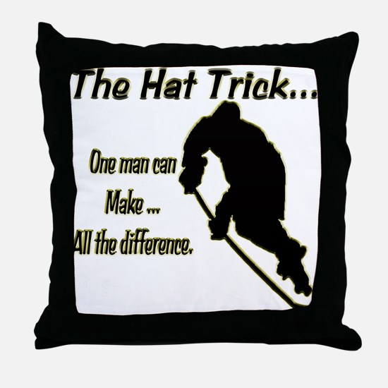 The Hat Trick Throw Pillow