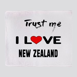 Trust me I Love New Zealand Throw Blanket