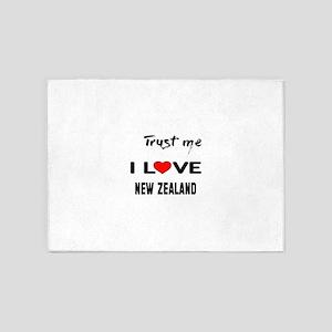 Trust me I Love New Zealand 5'x7'Area Rug