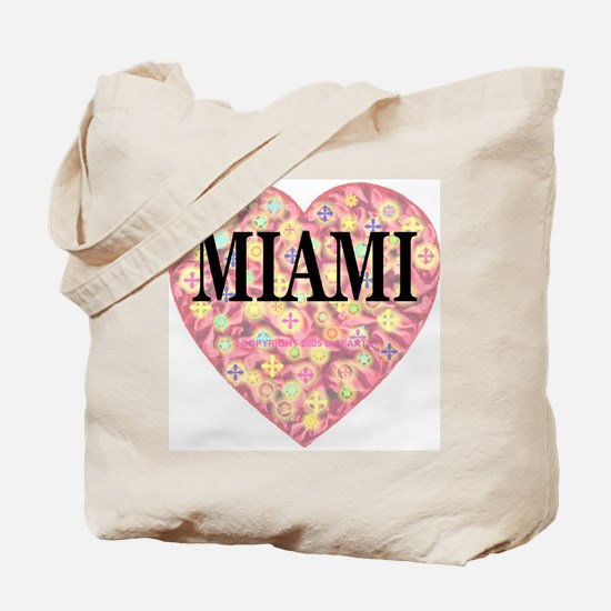 Miami Starburst Heart Tote Bag