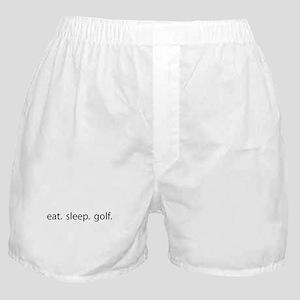 eat. sleep. golf. Boxer Shorts