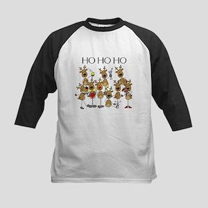 Ho Ho Ho Reindeer Kids Baseball Jersey