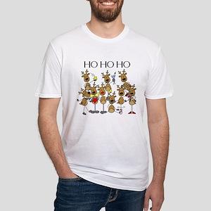 Ho Ho Ho Reindeer Fitted T-Shirt