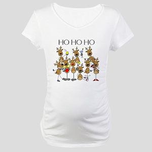 Ho Ho Ho Reindeer Maternity T-Shirt