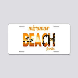 Florida - Miramar Beach Aluminum License Plate